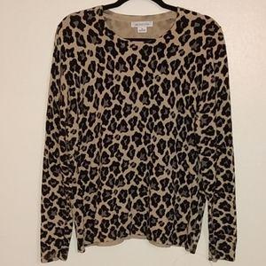 Liz Claiborne leopard print sweater XL